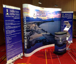 Pop up stand; curved 3x3; exhibition stand